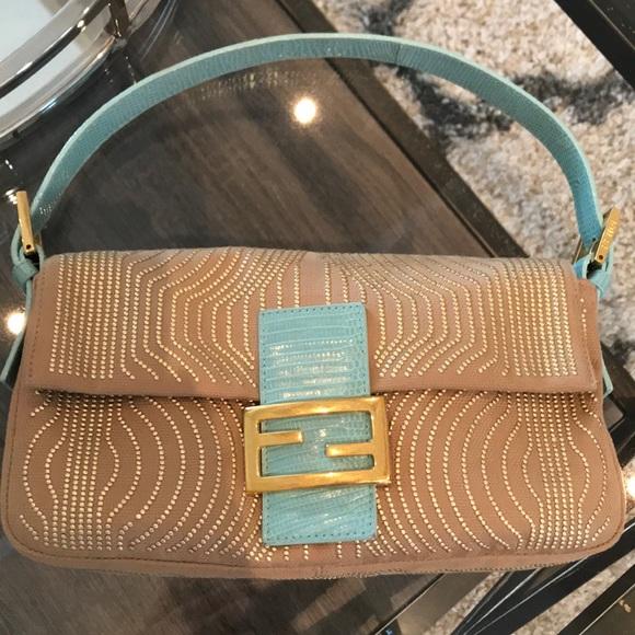 fd769848d808 Fendi Handbags - Vintage Fendi tan baguette handbag